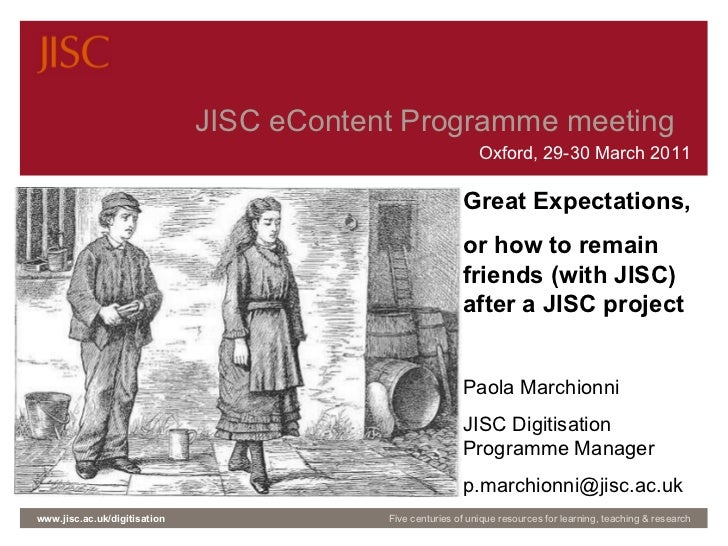 Working with JISC