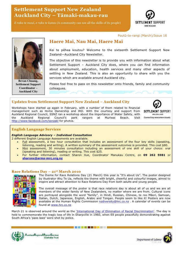 SSNZ Auckland City - Newsletter March issue 16