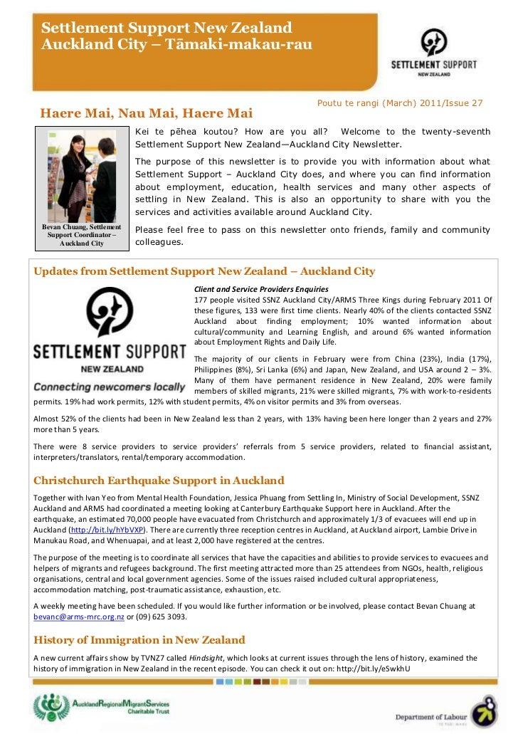 Settlement Support New Zealand  Auckland City – Tāmaki-makau-rau                                                          ...