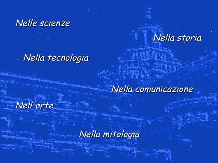 Nella mitologia Nella comunicazione Nelle scienze Nella storia Nell'arte Nella tecnologia