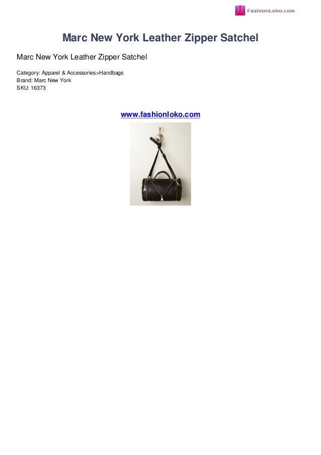 Marc New York Leather Zipper SatchelMarc New York Leather Zipper SatchelCategory: Apparel & Accessories>HandbagsBrand: Mar...