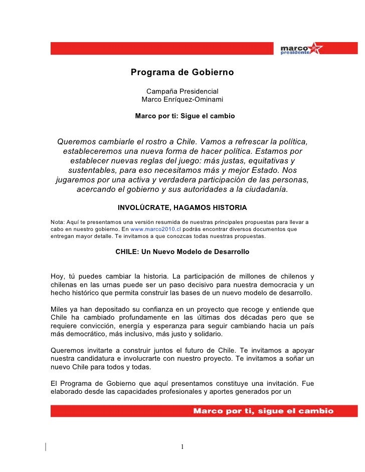 Programa de Gobierno                                  Campaña Presidencial                                 Marco Enríquez-...