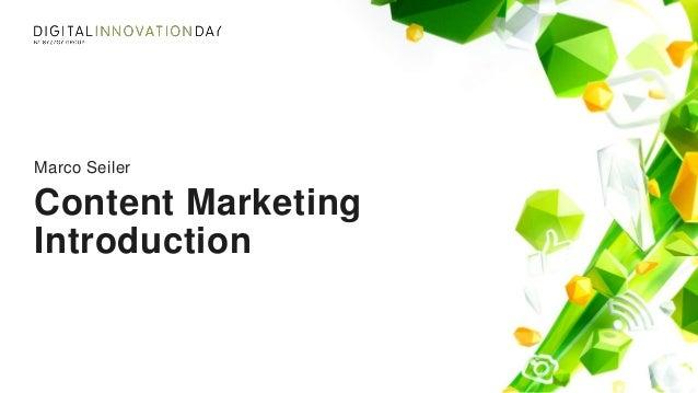 Content Marketing Introduction Marco Seiler