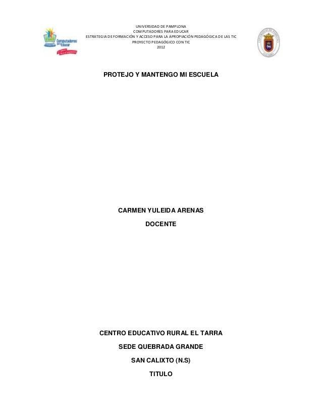 UNIVERSIDAD DE PAMPLONA                       COMPUTADORES PARA EDUCARESTRATEGIA DE FORMACIÓN Y ACCESO PARA LA APROPIACIÓN...