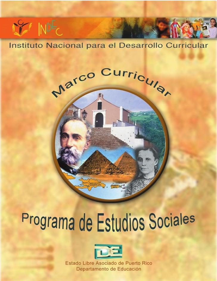 Marco curricular estudios sociales