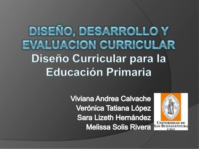 Marco general para la educacion primaria melissa