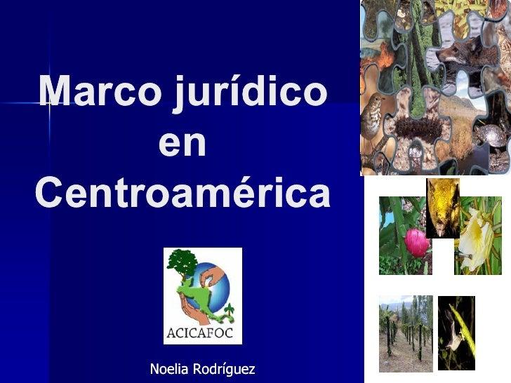 Marco jurídico      enCentroamérica     Noelia Rodríguez