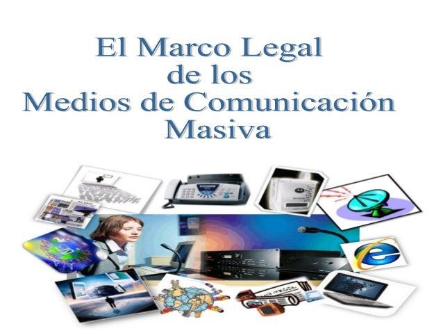Marco Legal • El marco legal proporciona las bases sobre las cuales las instituciones construyen y determinan el alcance y...