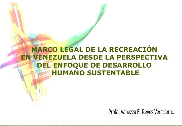 Marco legal de la recreación en venezuela