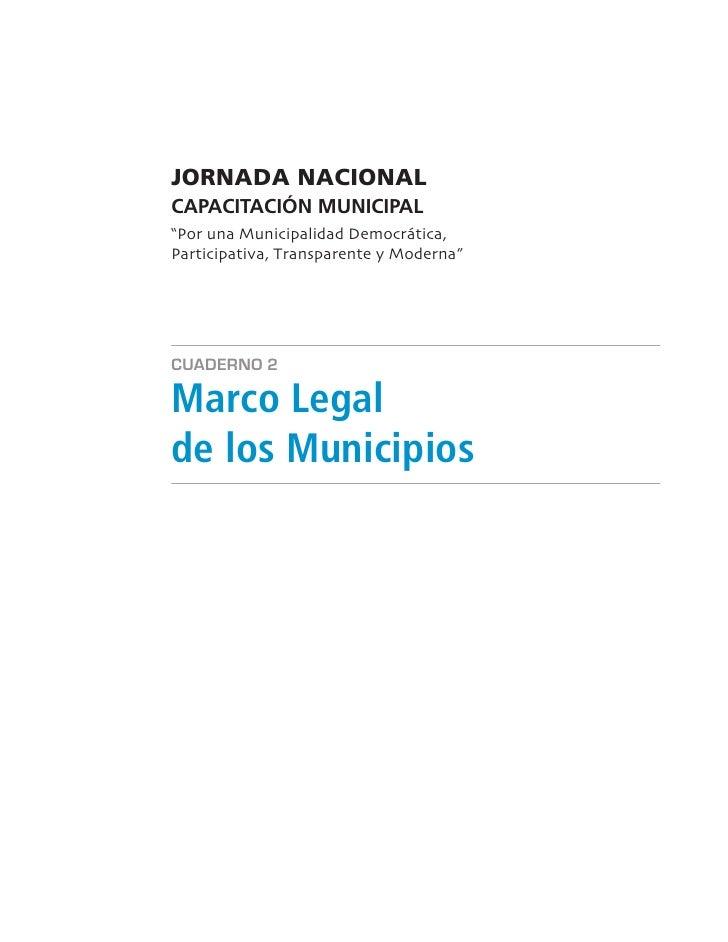 Marco Legal De Los Municipios