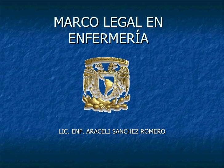 Marco legal en enf