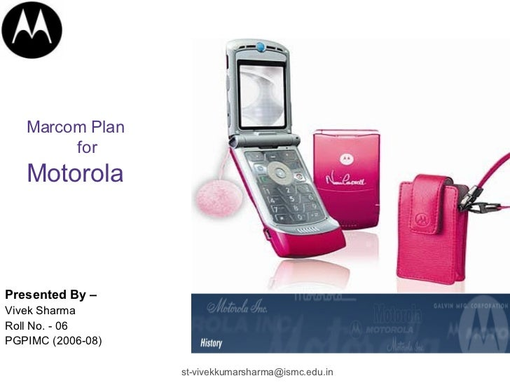 Marcom  Plan Of  Motorola