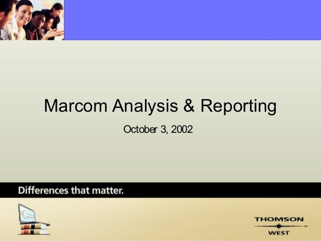 Marcom planning   analysis & reporting