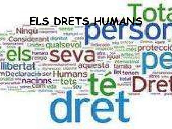 ELS DRETS HUMANS<br />