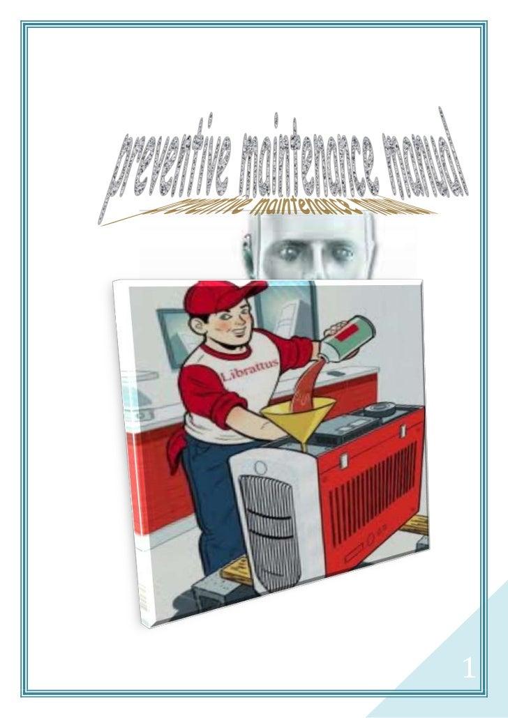 manual de mantenimiento computadores en ingles