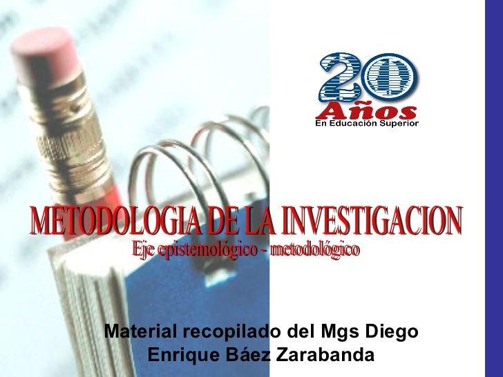 Material recopilado del Mgs Diego    Enrique Báez Zarabanda