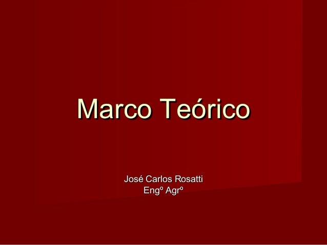 Marco Teórico José Carlos Rosatti Engº Agrº