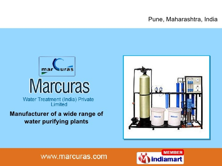 Pune, Maharashtra, India Manufacturer of a wide range of water purifying plants