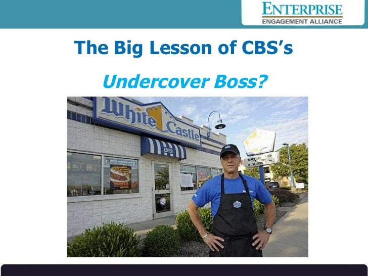The Big Lesson of CBS's  Undercover Boss?