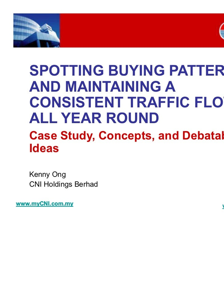 Retail Marketing - Spotting buying patterns and maintaining a consistent trafficflow all year round