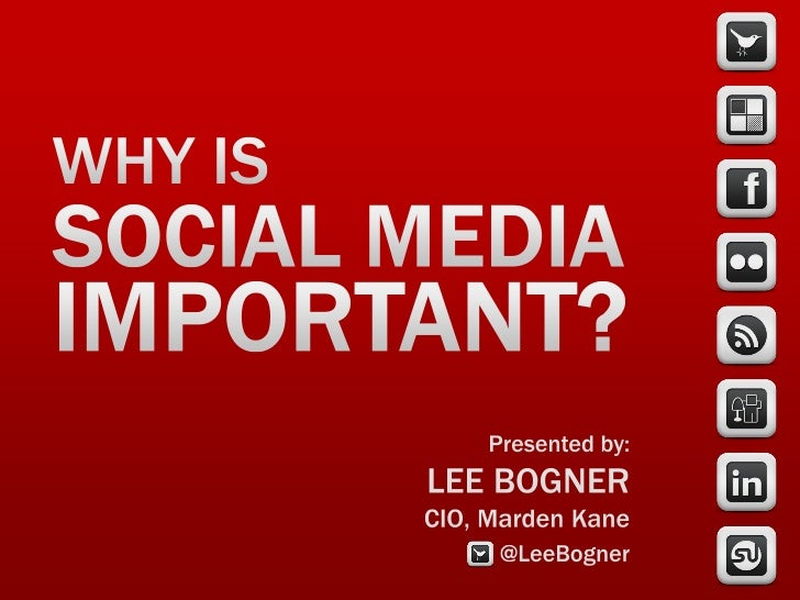 Why is Social Media Important? CPG & Food Industries