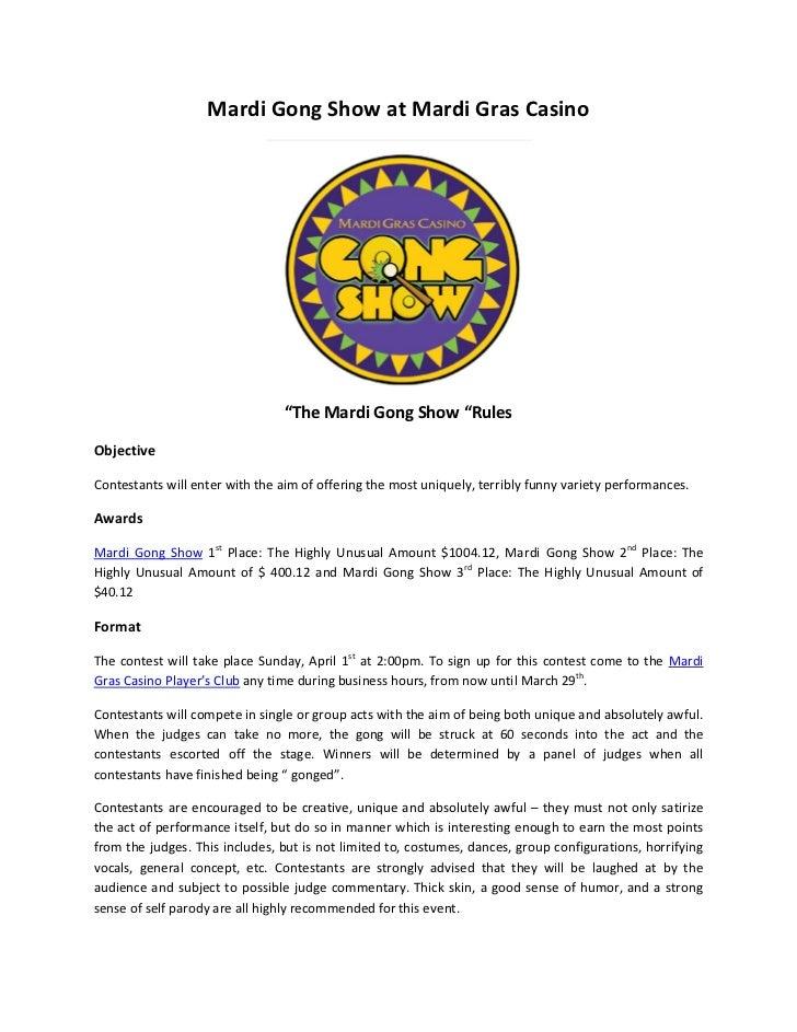 Mardi gong show at mardi gras casino