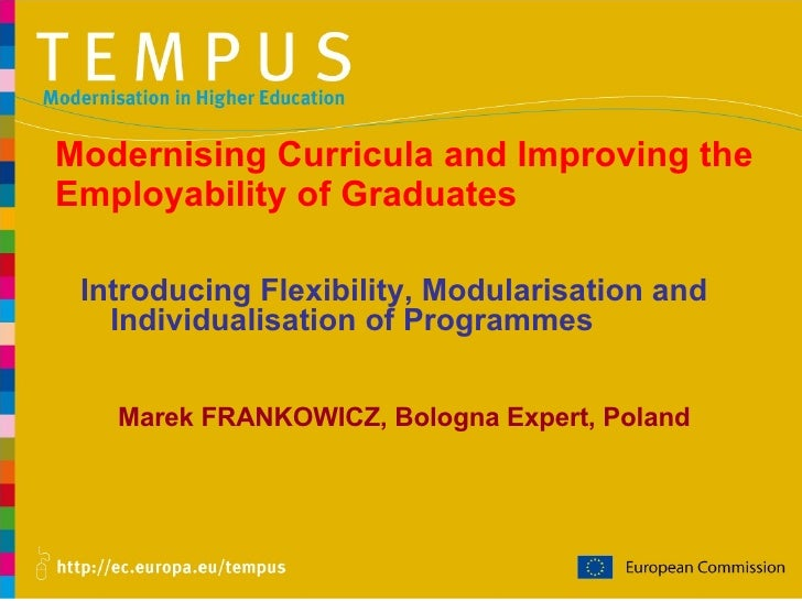 Modernising Curricula and Improving the Employability of Graduates Marek FRANKOWICZ, Bologna Expert, Poland Introducing Fl...