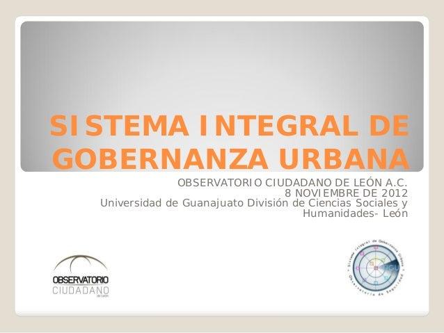 Programa SIGU del Observatorio Ciudadano de León, A.C.