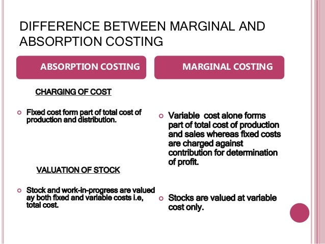 contribution and marginal costing essay Marginal costing and absorption costing  cost accounting   contribution is of fundamental in marginal costing,.
