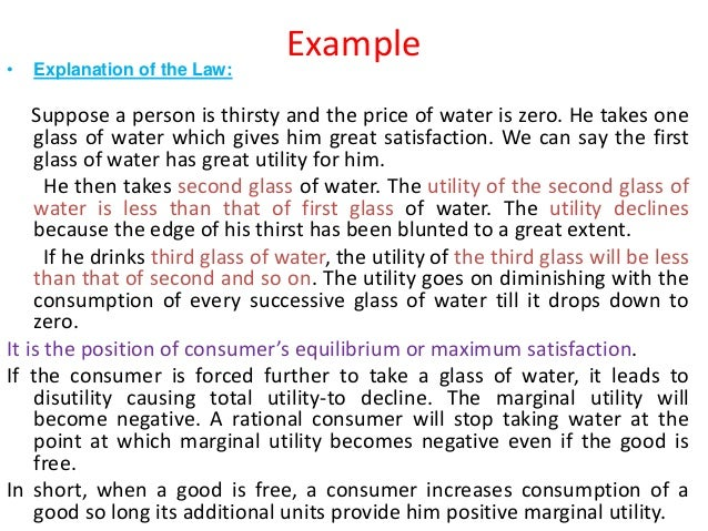 economic term marginal utility Utility and value: utility and value, in economics the marginal utility of x measured in money terms tells one how much of the commodity used as money the.
