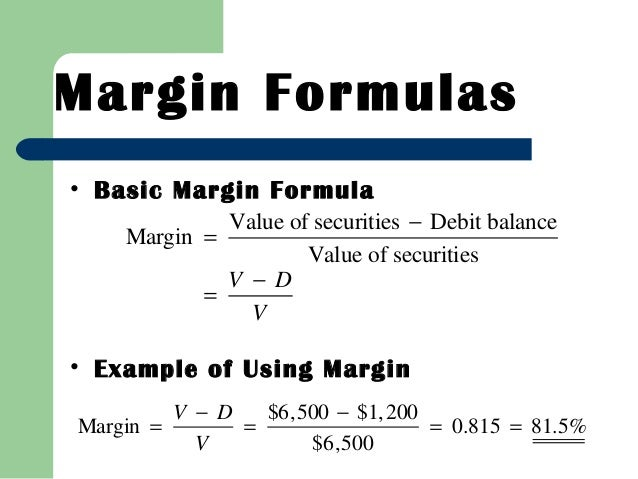 Trade options without margin