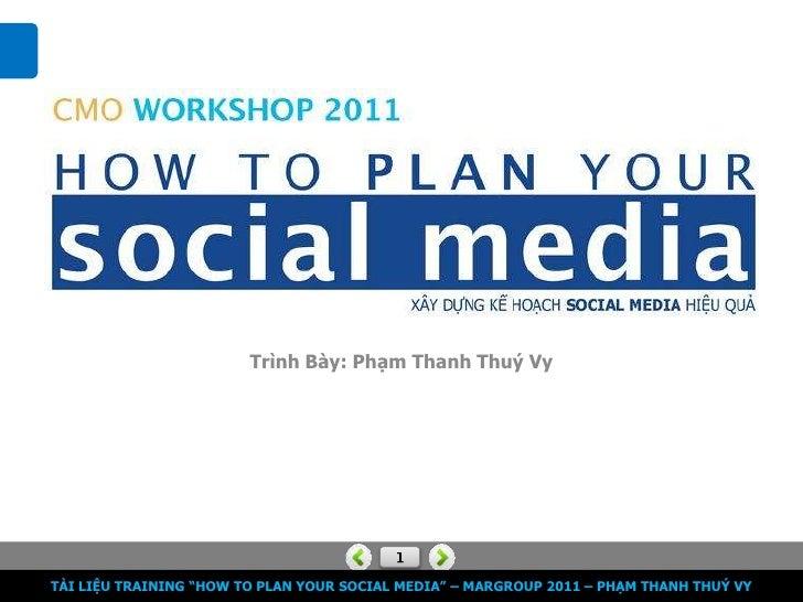 """Trình Bày: Phạm Thanh Thuý VyTÀI LIỆU TRAINING """"HOW TO PLAN YOUR SOCIAL MEDIA"""" – MARGROUP 2011 – PHẠM THANH THUÝ VY"""