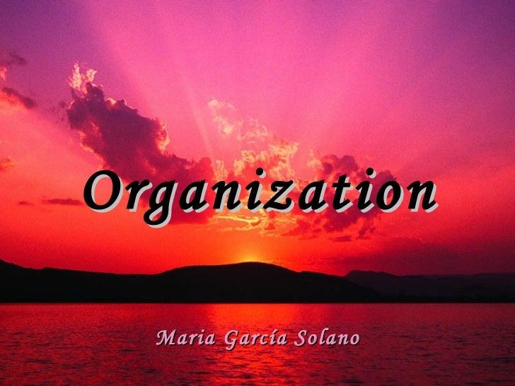 Organization Maria García Solano