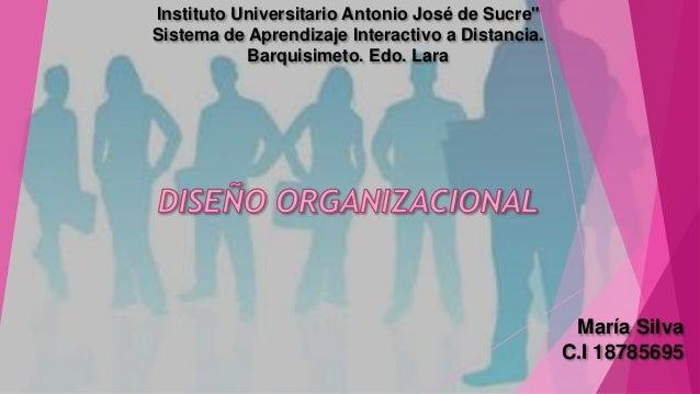 "Instituto Universitario Antonio José de Sucre""  Sistema de Aprendizaje Interactivo a Distancia.  Barquisimeto. Edo. Lara  ..."