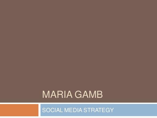 MARIA GAMBSOCIAL MEDIA STRATEGY