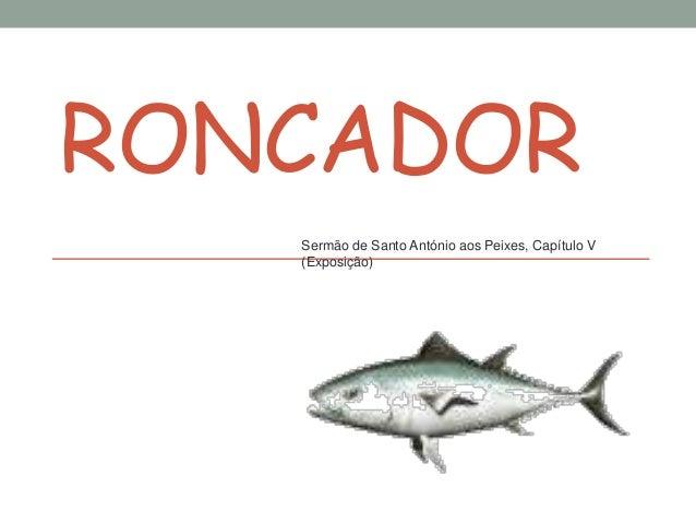 RONCADOR Sermão de Santo António aos Peixes, Capítulo V (Exposição)