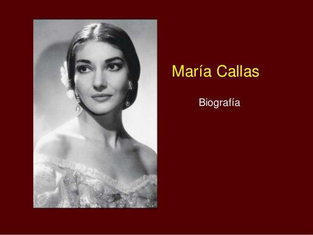 María Callas Biografía