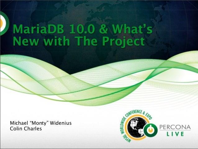 Mariadb10 和新项目中有什么