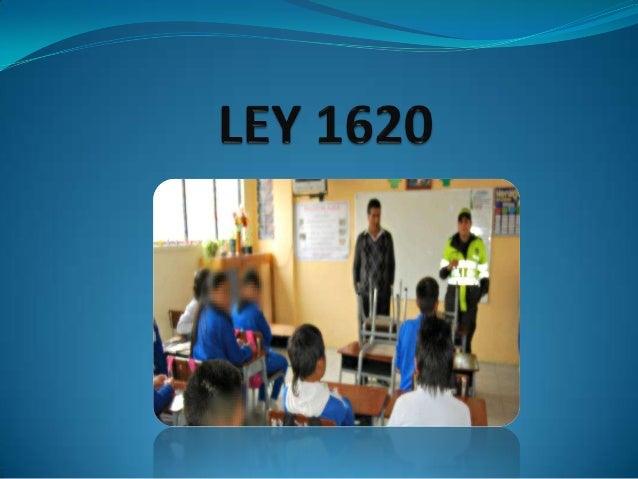 LEY DE LOS ESTUDIANTES 1620 COLOMBIA
