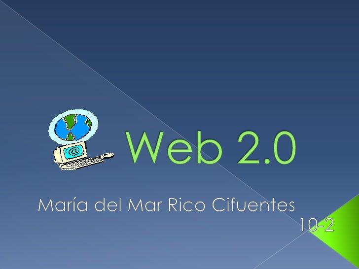 La Web 2.0 es la representación de laevolución de las aplicaciones tradicionaleshacia aplicaciones web enfocadas al usuari...