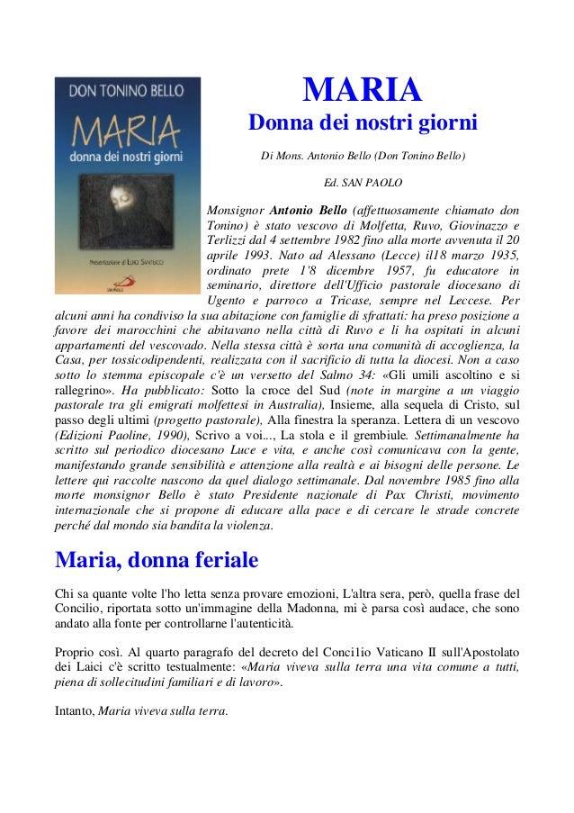 Maria, donna dei nostri giorni
