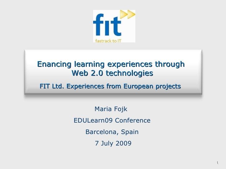 Maria Fojk Edu Learn Conference Presentation