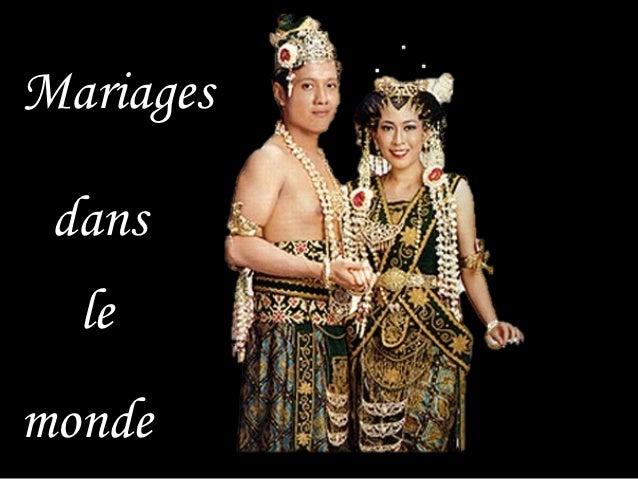 Mariages dans  lemonde