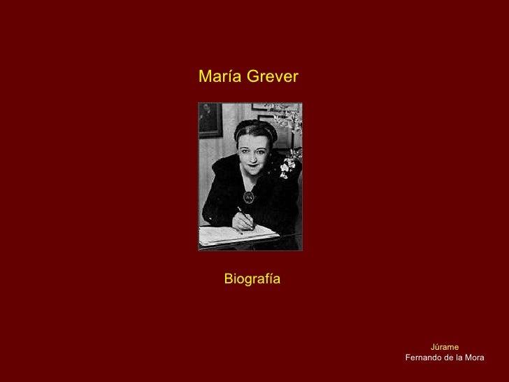 María Grever Biografía Júrame Fernando de la Mora