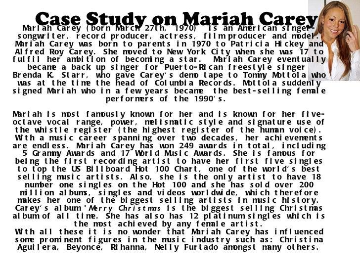 Mariah Carey Case Study