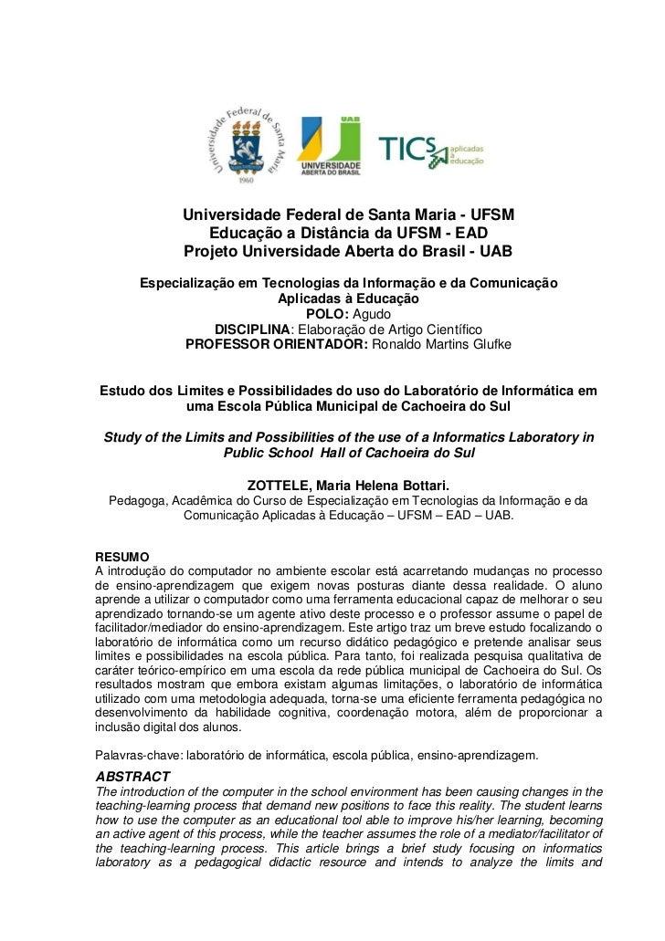1                Universidade Federal de Santa Maria - UFSM                   Educação a Distância da UFSM - EAD          ...