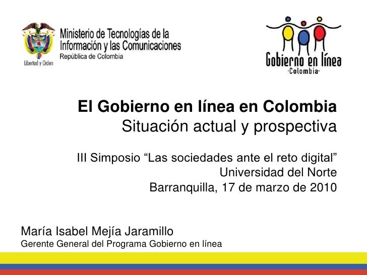 El Gobierno en línea en Colombia