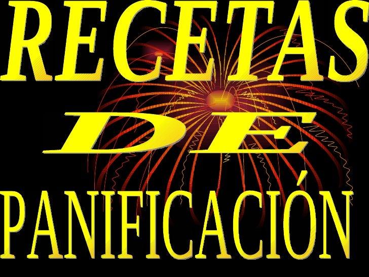 RECETAS DE PANIFICACIÓN