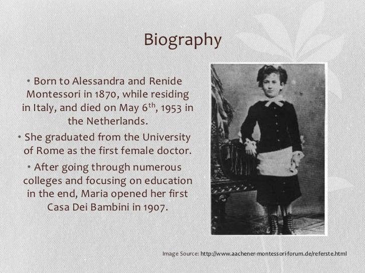 life of dr montessori Important dates in maria montessori'sa life dr montessori goes to berlin to speak at a women's conference 1936 maria montessori left.