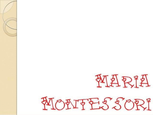 Maria Montessori CERB